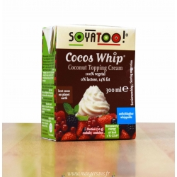 Crème chantilly de coco Cocos Whip, Soyatoo